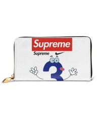 Supreme3 Men's Genuine Leather Zip-around Wallet,Very suitable for great for travel Large Slim Leather Wallet In Black,2.5x10.5x19cm,Cowhide.